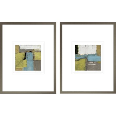 'Houseblend I, Houseblend II' by Jason Cardenas 2 Piece Framed Painting Print Set WNPR4894 40157890