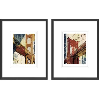 'Into Manhattan I, Into Manhattan II' by Noah 2 Piece Framed Graphic Art Set CHRL5447 40157940