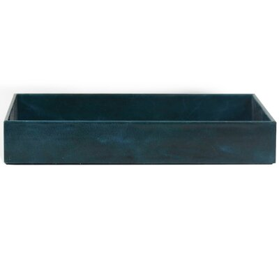 Colleen Genuine Leather Rectangle Storage Bathroom Accessory Tray