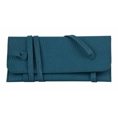 Marie Genuine Leather Pen Pencil Case Pouch Color: Light Blue