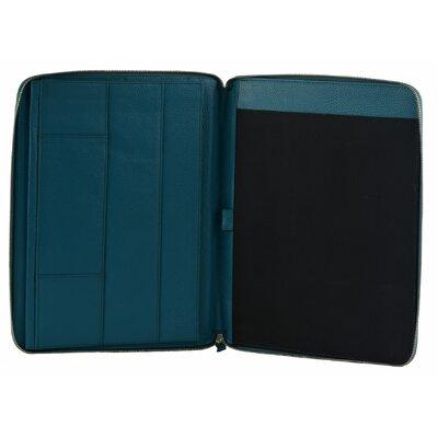 Kassidy Genuine Leather Business Portfolio Color: Light Blue