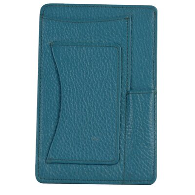 Jenny Genuine Leather Small Notepad Holder Color: Light Blue