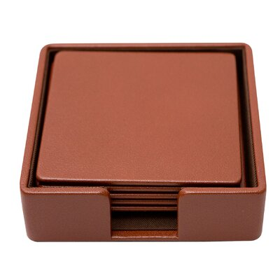 Genuine Leather Square Coaster RBRS1709 39306134