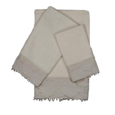 Stanton Beads 3 Piece Towel Set