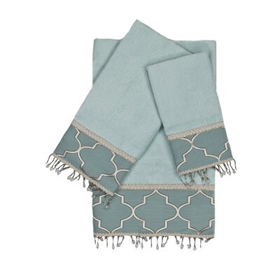 Stanton Beads 3 Piece 100% Cotton Towel Set