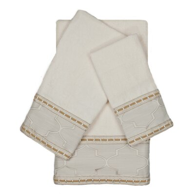 Stanton Ribbon 3 Piece Towel Set