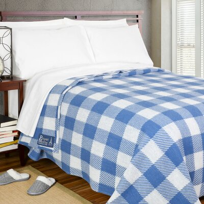 Chatel 400 GSM Oversized Brushed Blanket Color: Blue, Size: Queen