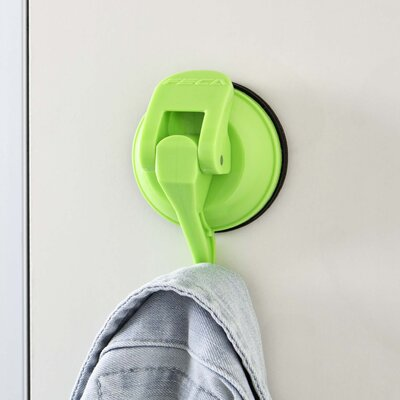 Powerful Push and Lock Color Pop Suction Hook (Set of 2) Finish: Green FE-H2035
