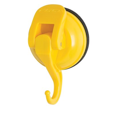 Powerful Push and Lock Color Pop Suction Hook (Set of 2) Finish: Yellow FE-H2033