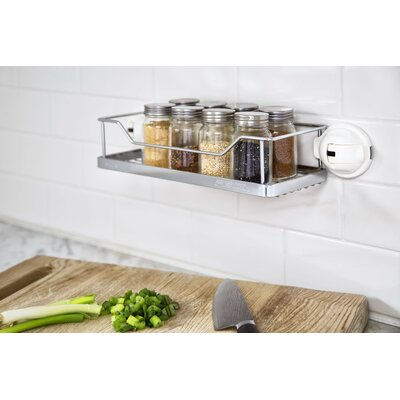 No Drilling Mountable Stainless Steel Rack with Powerful Suction Cup for Bathroom/Kitchen Shelf FE-K1004