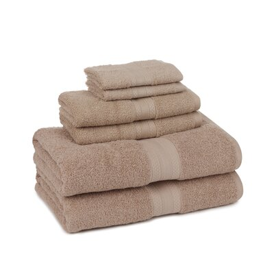 Home Luxe 6 Piece Towel Set Color: Linen