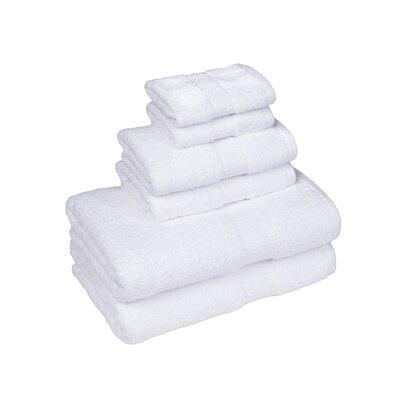 Organic 6 Piece Towel Set Color: White