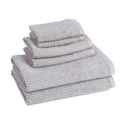 New Cambridge Quick Dry 6 Piece Towel Set Color: Cloud Burst