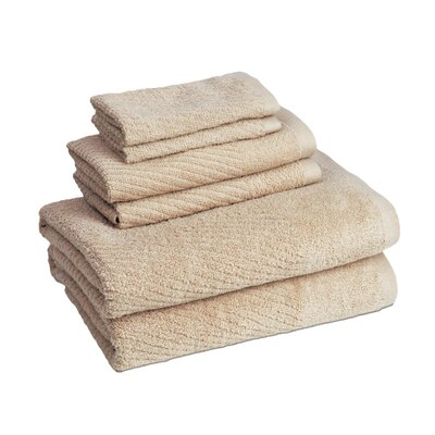 New Cambridge Quick Dry 6 Piece Towel Set Color: Linen