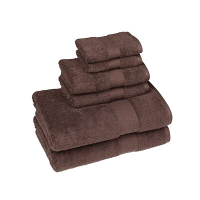 Organic 6 Piece Towel Set Color: Coffee