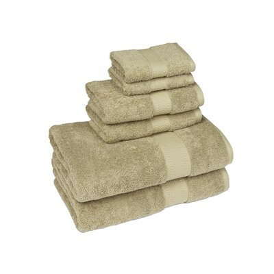 Organic 6 Piece Towel Set Color: Sage