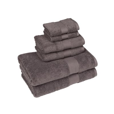 Organic 6 Piece Towel Set Color: Dark Shadow