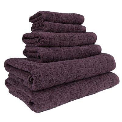 Cobblestone 6 Piece Towel Set Color: Coffee Bean