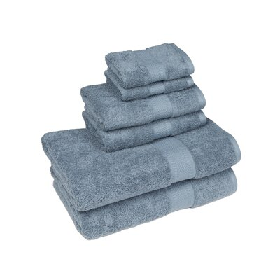 Organic 6 Piece Towel Set Color: Citadel Blue