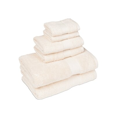 Organic 6 Piece Towel Set Color: Ivory