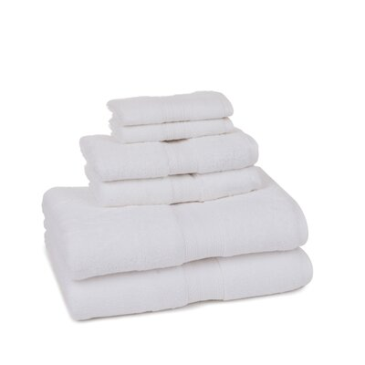 Home Luxe 6 Piece Towel Set Color: White