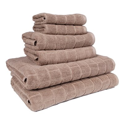 Cobblestone 6 Piece Towel Set Color: Sandy Tan
