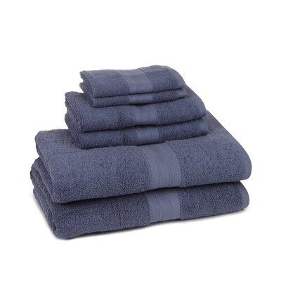 Home Luxe 6 Piece Towel Set Color: Blue Dusk