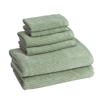 New Cambridge Quick Dry 6 Piece Towel Set Color: Fern