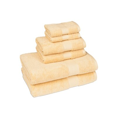 Organic 6 Piece Towel Set Color: Sahara