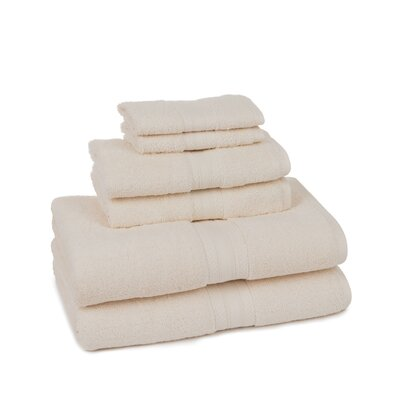 Home Luxe 6 Piece Towel Set Color: Ivory