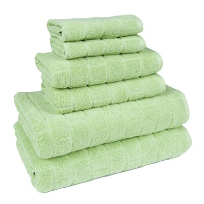 Cobblestone 6 Piece Towel Set Color: Citron