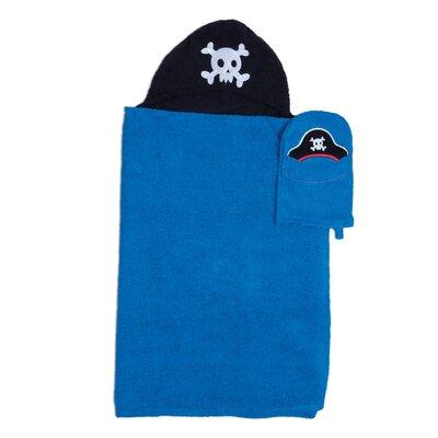 Tub Time Tots 2 Piece Pirate Towel Set