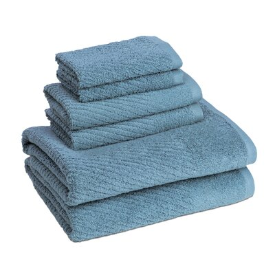 New Cambridge Quick Dry 6 Piece Towel Set Color: Citadel
