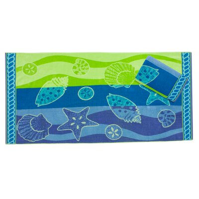Arbutus Shell Waves Beach Towel Set