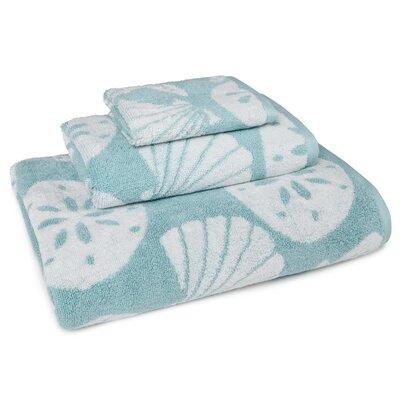 Coastal Shade Shell 3 Piece Towel Set Color: Aqua