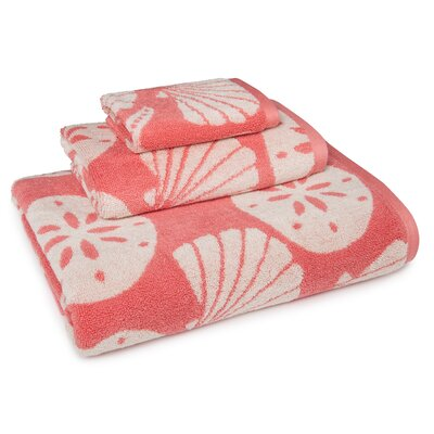 Millstone Coastal Shade Shell 3 Piece Towel Set Color: Coral