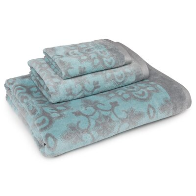 Cotton 3 Piece Towel Set Color: Aqua