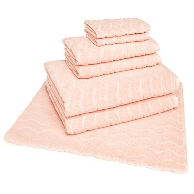 Cotton 7 Piece Towel Set Color: Old Pink