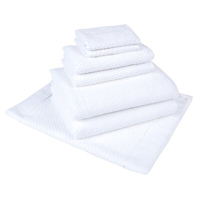 Solid 7 Piece Towel Set Color: White