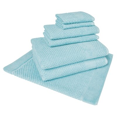 Solid 7 Piece Towel Set Color: Steel Blue