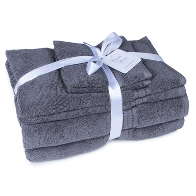 100% Cotton 6 Piece Towel Set Color: Iron