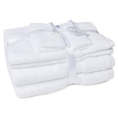 100% Cotton 2 Ply 6 Piece Towel Set Color: White