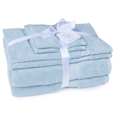 100% Cotton 2 Ply 6 Piece Towel Set Color: Powder Blue