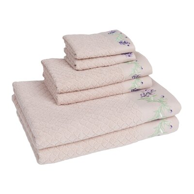 Tomblin 6 Piece Towel Set Color: Linen