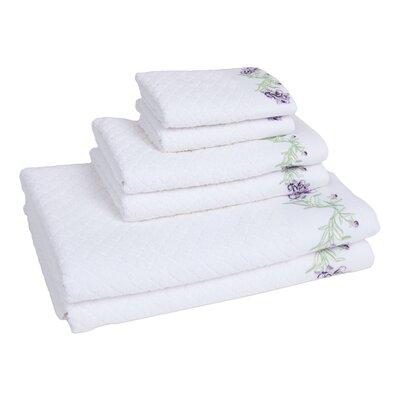Tomblin 6 Piece Towel Set Color: White