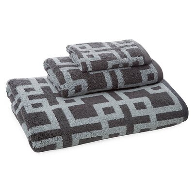 Newell 3 Piece Towel Set Color: Silver/Charcoal