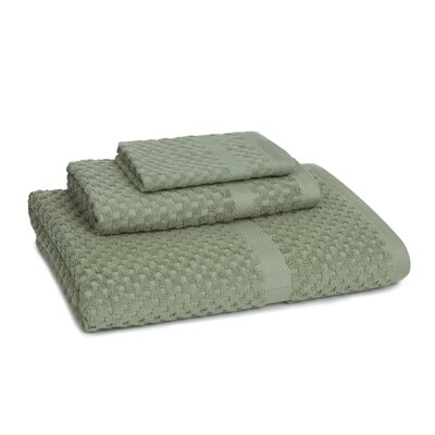 Mitt Honeycomb 3 Piece Towel Set Color: Sage Tea