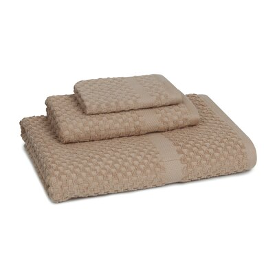 Mitt Honeycomb 3 Piece Towel Set Color: Sesame