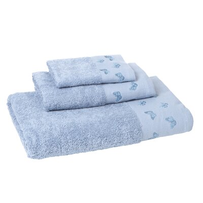 Downton 3 Piece Towel Set Color: Lake Blue
