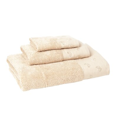 Noonan 3 Piece Towel Set Color: Sesame